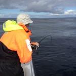 Bra fiske på Röst, flundra på 141cm